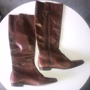 Michael Kors Shoes - Michael Kors cognac leather boots 7.5 calf height